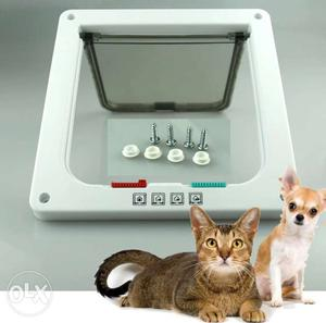 Pet cat & small dog 4 way lock door flap