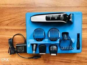 Black And Grey Philips Hair Trimmer Set With Box