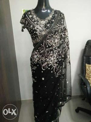 Netted Designer Party wear Saree