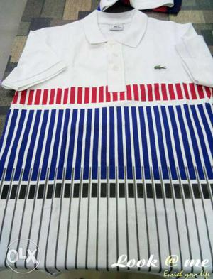 White, Red, Blue, And Black Polo Shirt
