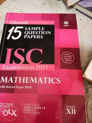 Maths practice paper sample paper ISC board year