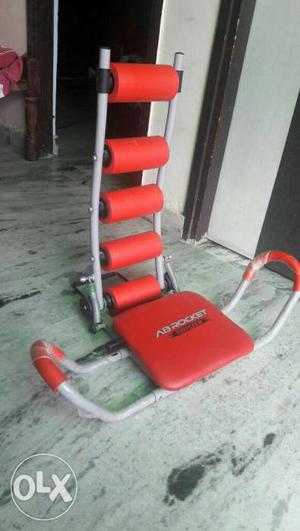 Red And White Ab Exercise Equipment
