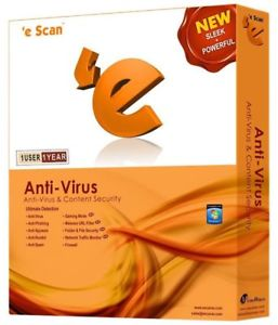 eScan AntiVirus - 1 User, 1 Year - No CD Only CODE