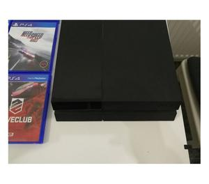 sony playstation 4 with two joystick and two free CD games