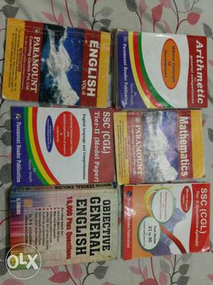 6 books for ssc examination in new like