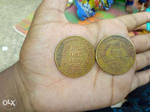 A Two hundred years old coin of East India