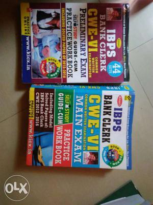 IBPS clerk preliminary exam & main exam books