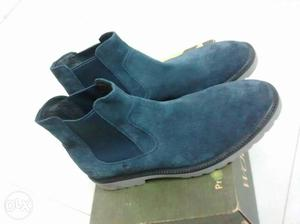 Brand New Woodland Chelsea Shoes. Blue Leather.