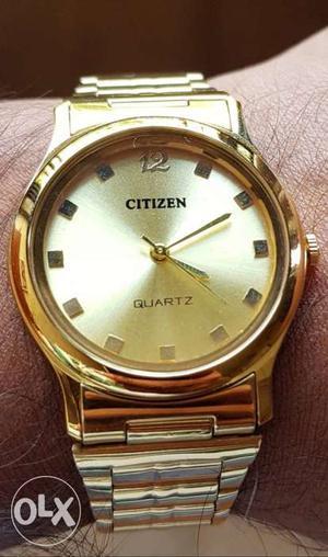 Citizen 23k Gold Plated Watch for Men