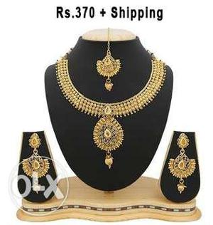 Traditional look brand new necklace sets price