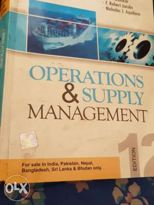 MBA book operations and Supply management book
