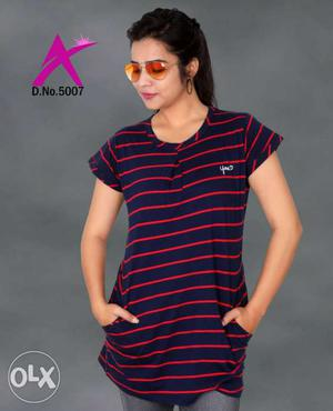 Ladies long t-shirts size m to 3xl