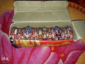 Multicolored Gemstone Encrusted Bangle Lot