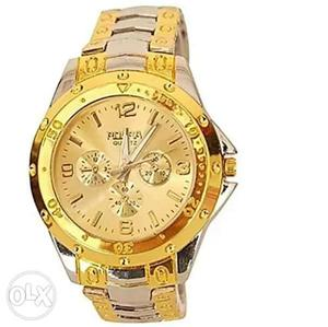 Rosra golden colour watch for man in good