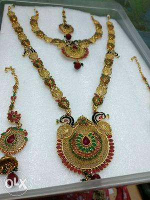Bridal Jewellery set. South Indian temple