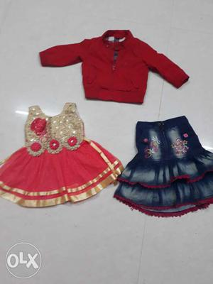 Dresses for 1 year old kid. One fancy,