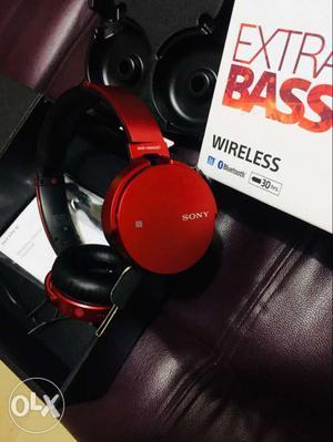 Sony Extra BASS wireless Bluetooth Headphone MDR