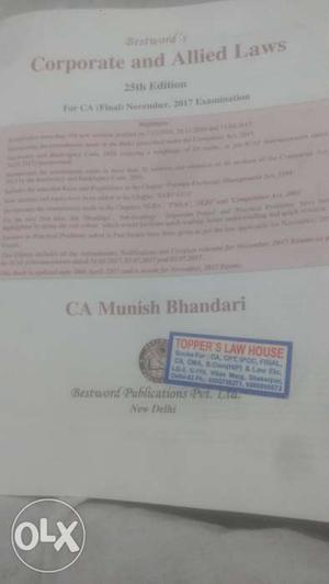 Munish Bhandari Corporate and Allied law main