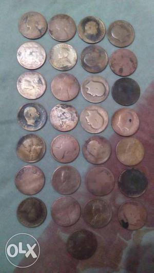 One quarter Anna 29 coins to