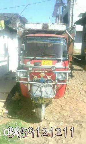 Red Electric Rickshaw