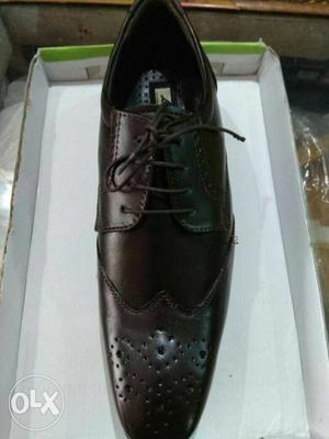 Dark Brown Pure leather formal shoes for sale