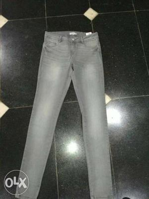 Gray Washed Jeans