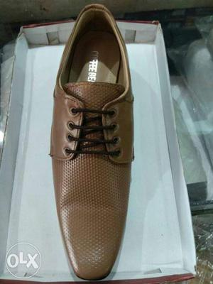 Light Brown Pure leather formal shoes for sale