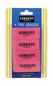 Sargent Art  Count Eraser Blister Pack Pink