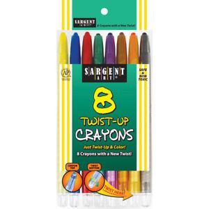 Sargent Art Twist-Up Crayons-8/Pkg