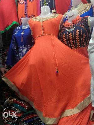 Women's Red Scoop Neck Sleeveless Dress