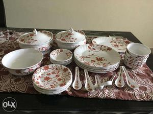 Brand New, Clay Craft, 34 Pieces Dinner Set, Bone china