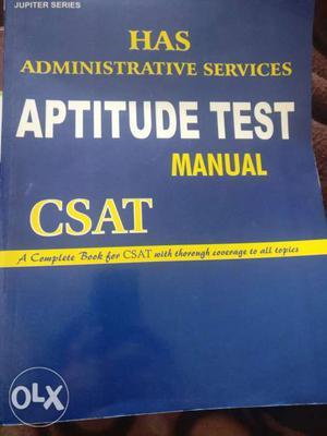 Has Administrative Services Aptitude Test Manual Book