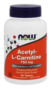 NOW Foods - Acetyl-L-Carni tine 750 mg. - 90 Vegetarian
