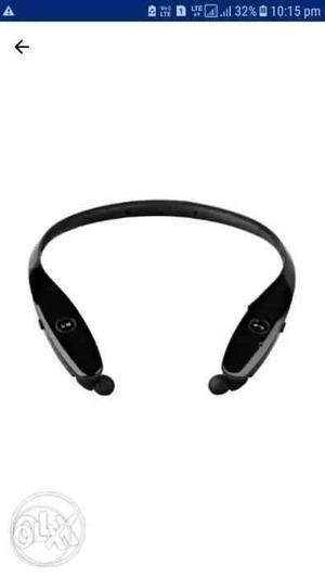 Black And Gray Neckband Wireless Headset Screenshot