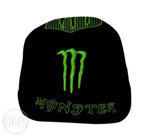 Black And Green Monster Energy Fitted Ap