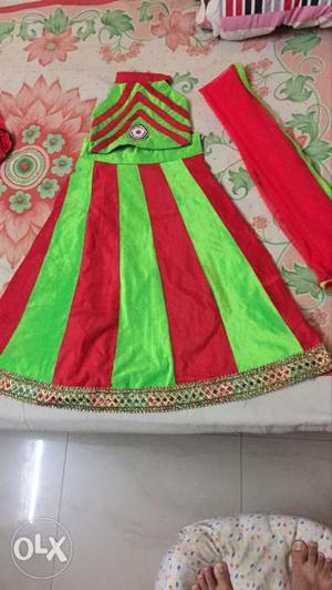 Ghaghara,choli,dupatta for 5 to 6 years baby girl