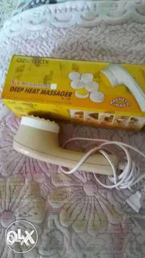 White And Beige Deep Heat Massager With Box