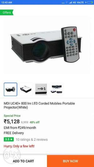 White And Black MDI UCLM LED Corded Mobile Portable