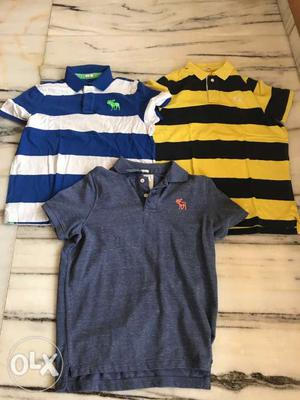 3 Abercrombie & Fitch tshirts