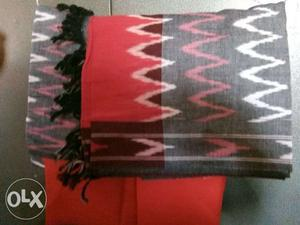 Red And Black Chevron Scarf