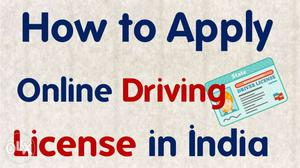 How To Apply Online Driving License In India