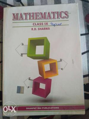 Rd Sharma's Mathematics Reference Book Class 9th.