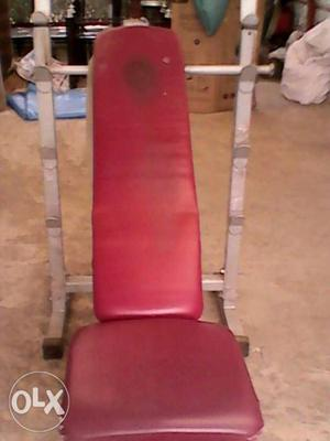 Red And Gray Weight Bench
