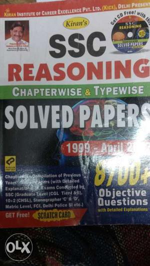 SSC Reasoning Solved Papers Textbook