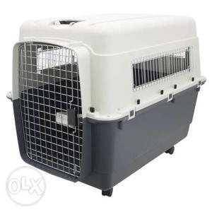 White And Black cat Carrier