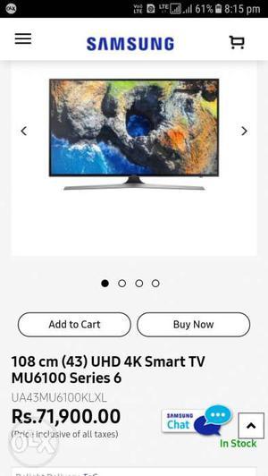 Samsung 4K LED TV 43INCH MU