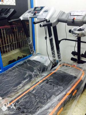 Kondatty Blue and Gray Exercises Treadmill Lowest Price