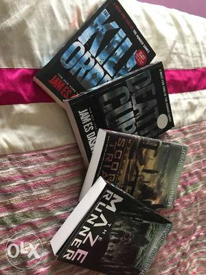 Maze runner(all 4) book series. Author- James