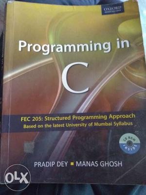 Programming In C Book By Pradip Dey