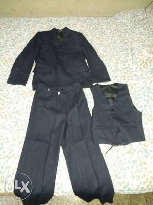 Black blazer suit with stripes only for children upto 11